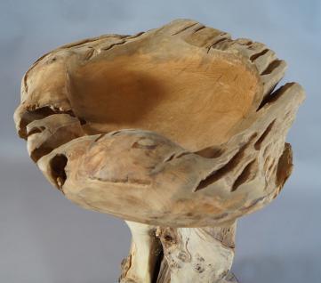 """Wohndekoration Skulptur """"Schale auf Teakwurzel"""" - Vorschau 3"""