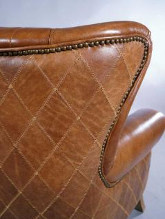 ohrensessel enfield vintage leder whiskey brown messingnieten kaufen bei mehl wohnideen. Black Bedroom Furniture Sets. Home Design Ideas
