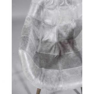 """Design Schalensessel """"Chuck Grey"""" Vintage-Leder grau - Vorschau 4"""
