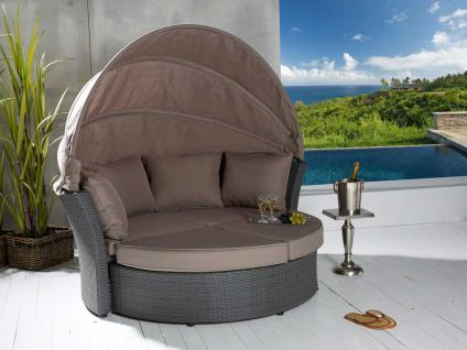 Liegeinsel Miami grey Strandliege Sonnenliege Sunlounger Gartenliege Liege Polyrattan - Vorschau 2