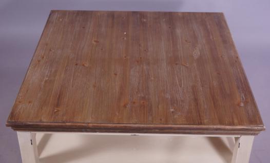Couchtisch Paris Holz Vintage Look creme weiß - Vorschau 4