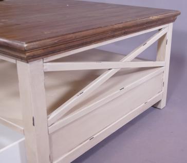 Couchtisch Paris Holz Vintage Look creme weiß - Vorschau 5