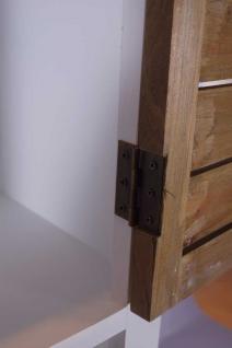 Kommodenturm Paris schmal Holz 2 Schubladen Vintage Look creme weiß - Vorschau 5
