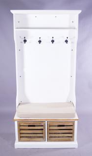 Garderobenschrank Paris Holz Vintage Look creme weiß - Vorschau 2