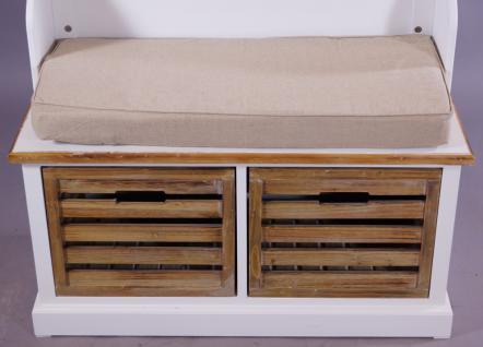 Garderobenschrank Paris Holz Vintage Look creme weiß - Vorschau 4