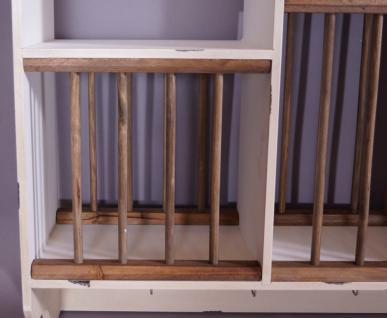 Geschirrregal Paris Holz Vintage Look creme weiß - Vorschau 3