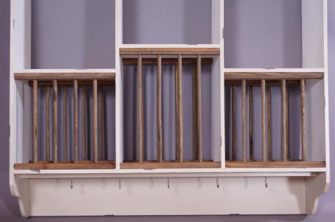 Geschirrregal Paris Holz Vintage Look creme weiß - Vorschau 4