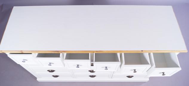 kommode marseille holz 15 schubladen vintage look wei kaufen bei mehl wohnideen. Black Bedroom Furniture Sets. Home Design Ideas