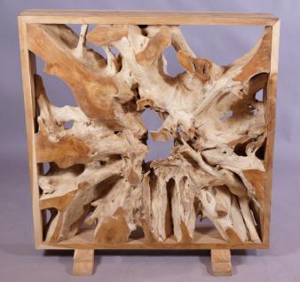 wohndekoration raumteiler aus massiver teakholz-wurzel mit rahmen ... - Massive Wurzel