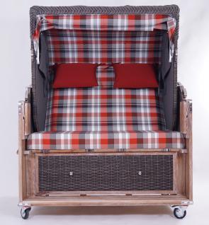 Strandkorb Kampen Spezial Old Style 2, 5-Sitzer Mocca