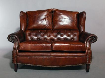 Ledersofa York 2-Sitzer Vintage-Leder