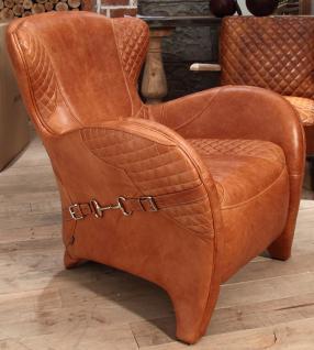 Designsessel Whitehorse Vintage-Leder