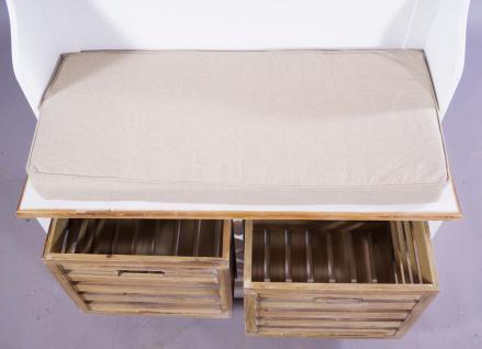 Garderobenschrank Paris Holz Vintage Look creme weiß - Vorschau 3