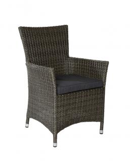 "Armchair ""Neapel"" in ""Grey Mix"""