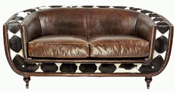 clubsofa banbury 2 sitzer vintage leder kuhfell kaufen. Black Bedroom Furniture Sets. Home Design Ideas
