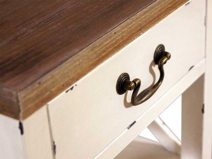 Standregal Loire mit Schublade Landhaus Stil Holz Vintage Look creme weiß - Vorschau 5