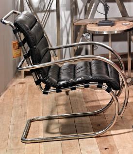 Freischwinger-Sessel Brisbane Vintage-Leder Stahlrohr - Vorschau 2