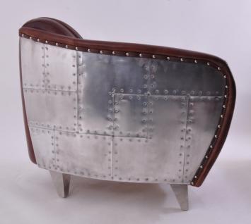 Clubsessel Aberford Vintage Leder Aluminium - Vorschau 2