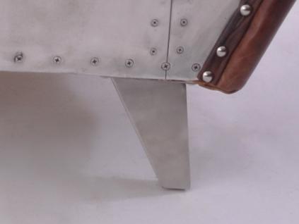 Clubsessel Aberford Vintage Leder Aluminium - Vorschau 5
