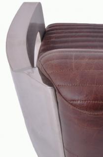 Design-Clubsessel Clifford Chrom und Vintage-Leder - Vorschau 5