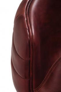 Design Schalensessel Bobby Drehstuhl Vintage-Leder - Vorschau 5