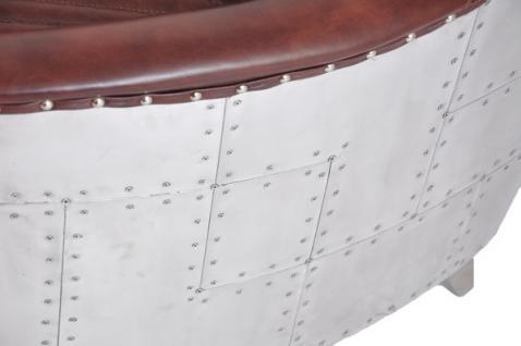 Clubsofa Aberford 2-Sitzer Vintage Leder Aluminium - Vorschau 5