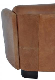 Clubsofa Rocket 2-Sitzer Vintage Leder, hell - Vorschau 5