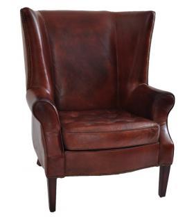 ohrensessel manea vintage leder kaufen bei mehl wohnideen. Black Bedroom Furniture Sets. Home Design Ideas