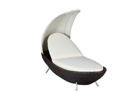 Liegeinsel Crescent Single Mocha Duo Lounge Gartenlounge Gartenmöbel
