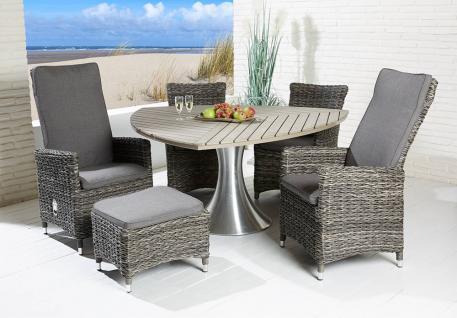 Polyrattan Sitzgruppe Husum, grey