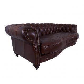Castlefield Sofa 3-Sitzer Vintage Cigar Chesterfield-Stil - Vorschau 1