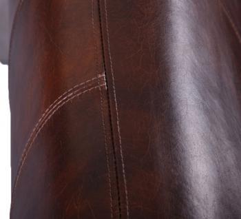 Memphis Design-Clubsofa 3-Sitzer Vintage Leder Chrom - Vorschau 4