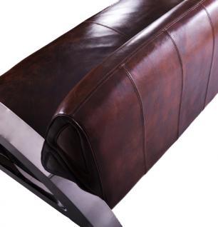 Memphis Design-Clubsofa 3-Sitzer Vintage Leder Chrom - Vorschau 3