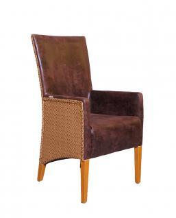 armlehnenstuhl paris loom geflecht beige brown kaufen bei mehl wohnideen. Black Bedroom Furniture Sets. Home Design Ideas