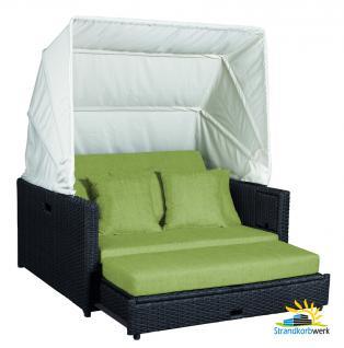 BEZÜGE für Polsterauflage und Bezüge für Kissenset in grün für die Liegeinsel Beach Lounge