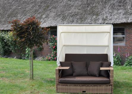 Liegeinsel Beach Lounge Mixed Beige Flachgeflecht - Vorschau 2