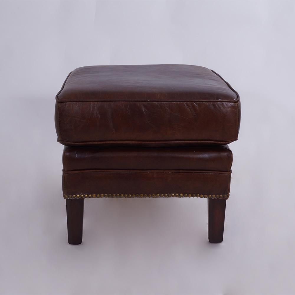 fu hocker gilbert leder vintage cigar kaufen bei mehl. Black Bedroom Furniture Sets. Home Design Ideas