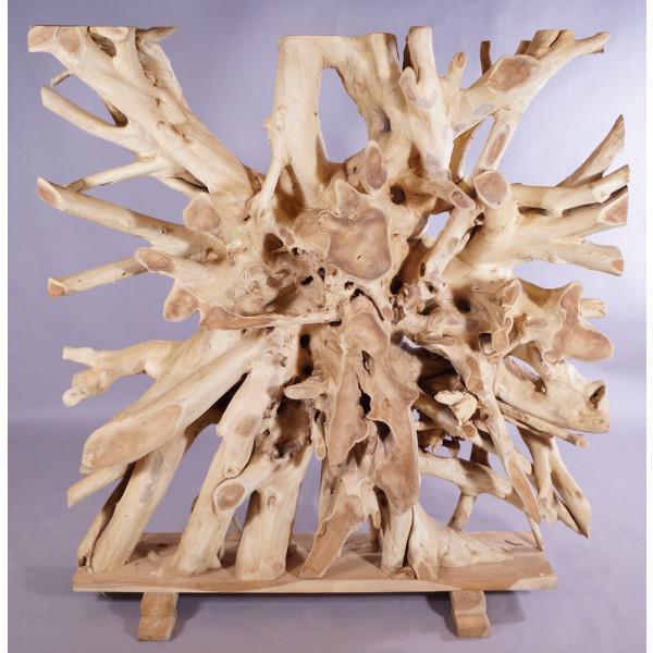 wohndekoration raumteiler aus massiver teakholz-wurzel - kaufen ... - Massive Wurzel