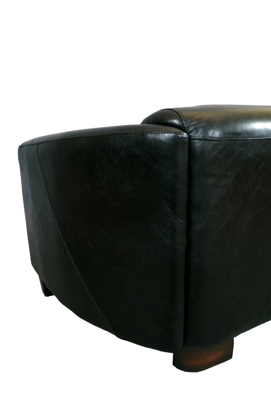 clubsofa rocket 2 sitzer vintage leder belon black. Black Bedroom Furniture Sets. Home Design Ideas