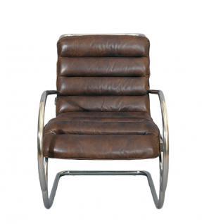 freischwinger sessel brisbane braun vintage leder stahlrohr kaufen bei mehl wohnideen. Black Bedroom Furniture Sets. Home Design Ideas