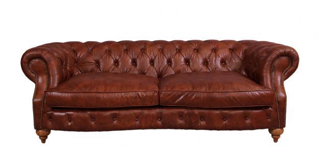 Castlefield Montaigne Brown Sofa 3-Sitzer Chesterfield-Stil - Vorschau 2