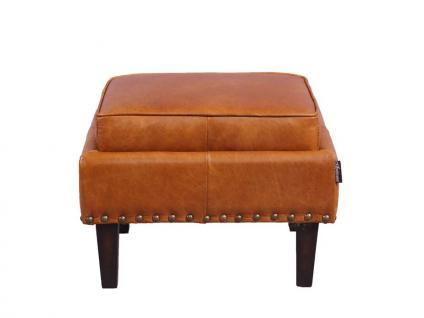 Fußhocker Cincinnati Vintage-Leder Columbia Brown 3