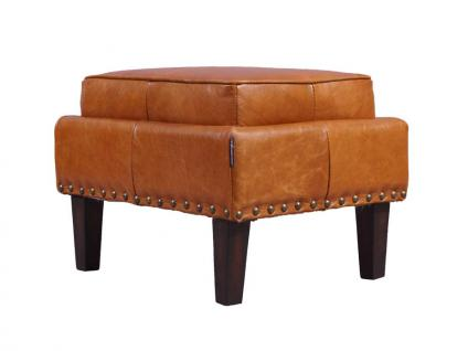 Fußhocker Cincinnati Vintage-Leder Columbia Brown 4