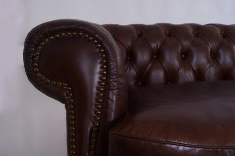 Castlefield Sofa 3-Sitzer Vintage Cigar Chesterfield-Stil - Vorschau 5