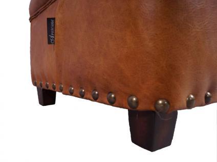 Fußhocker Derry Vintage-Leder Columbia Brown - Vorschau 4