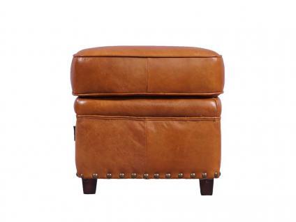 Fußhocker Derry Vintage-Leder Columbia Brown - Vorschau 2