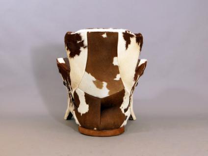 Designsessel Buffalo Kuhfell Vintage Leder - Vorschau 4