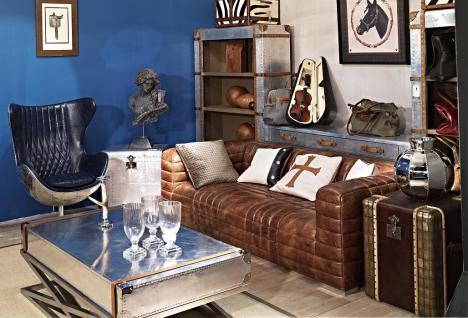 Designsofa Birsay 2, 5-Sitzer Vintage-Leder
