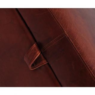 Fußhocker Birmingham mit Stauraum Vintage-Leder - Vorschau 2