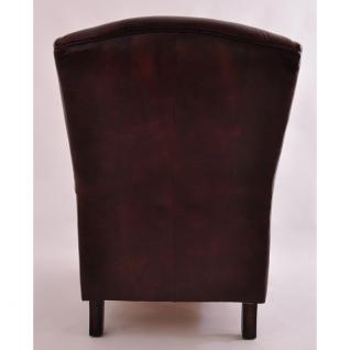 Ohrensessel Poole Vintage Leder - Vorschau 3